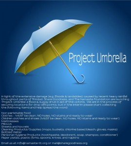 Project Umbrella flood relief efforts Trinidad